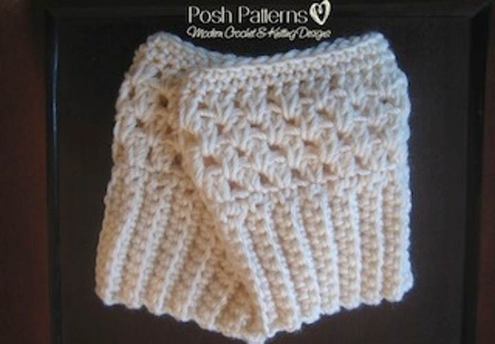 Crochet Boot Cuff Easy Pattern : Free Crochet Boot Cuffs Pattern - Posh Patterns
