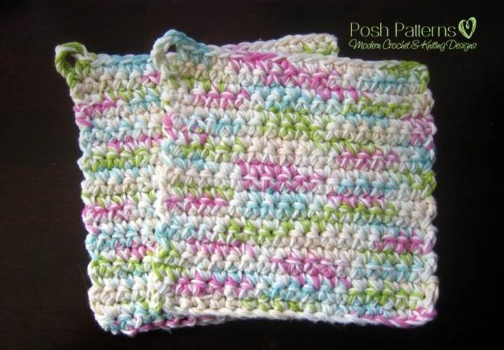 Free Pot Holders Crochet Pattern - Posh Patterns