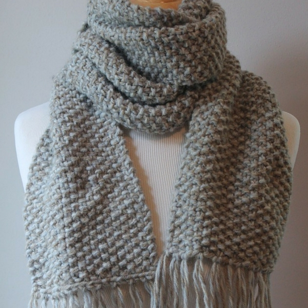 free seed stitch knit scarf pattern