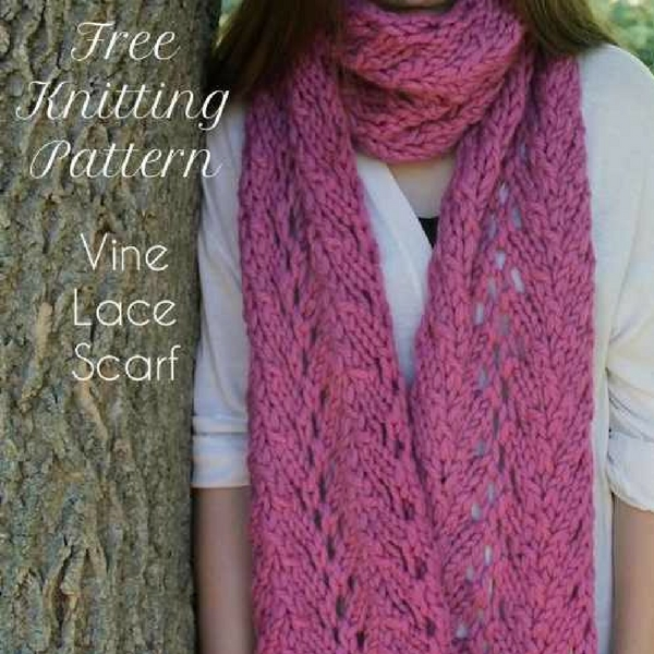 Free Knitting Pattern Vine Lace Scarf