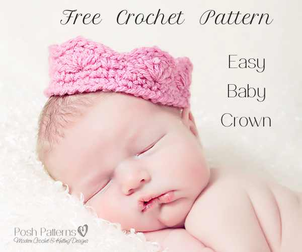 Free Baby Crown Crochet Pattern