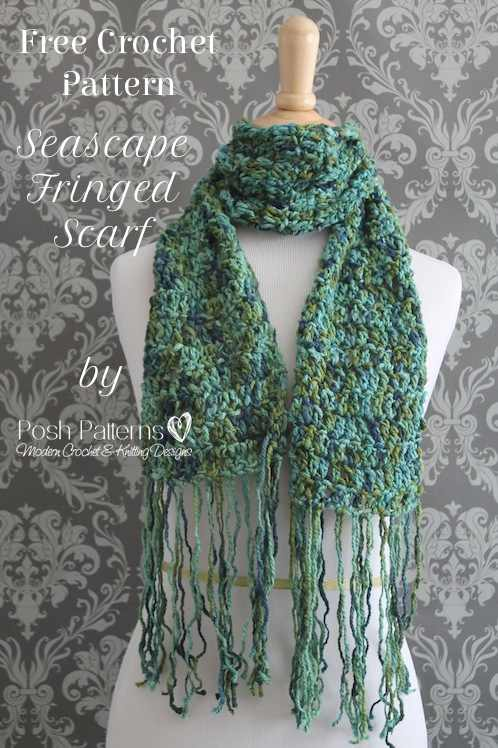 Free Crochet Scarf Patterns To Download : Free Crochet Scarf Pattern - Posh Patterns