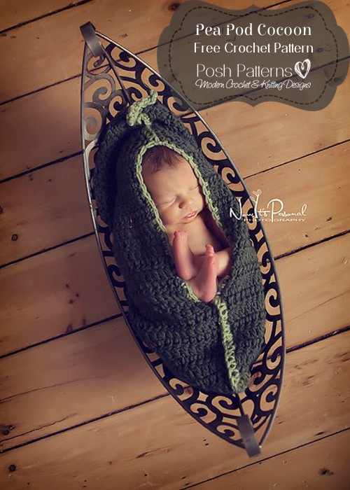 Free Pea Pod Cocoon Crochet Pattern Posh Patterns