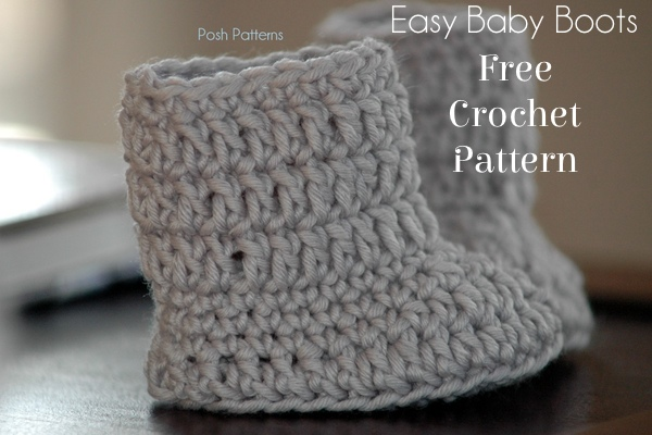 Free Baby Boots Crochet Pattern - Posh Patterns