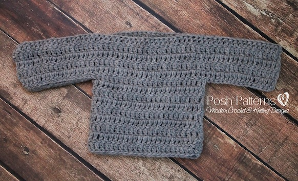 Free Crochet Pattern Toddler Pullover : Free Baby Sweater Crochet Pattern