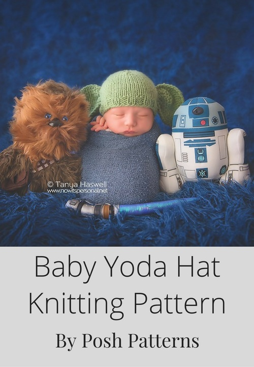 Knitting Pattern Baby Yoda Hat : Free Knit Yoda Hat Pattern