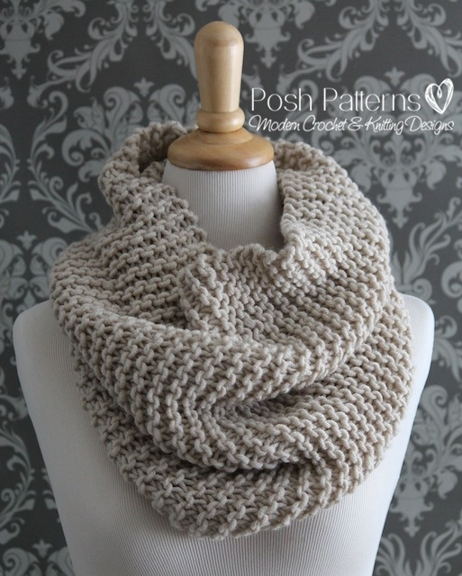 Free Cowl Knitting Patterns For Beginners : Beginner Knit Cowl Pattern