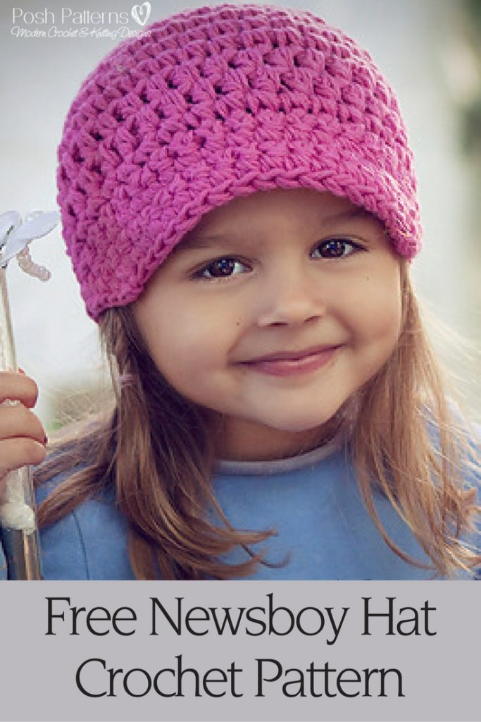 Free Knitting Pattern Baby Newsboy Hat : Easy Newsboy Hat Crochet Pattern