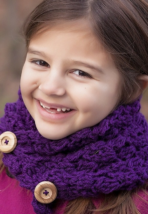button cowl free crochet pattern
