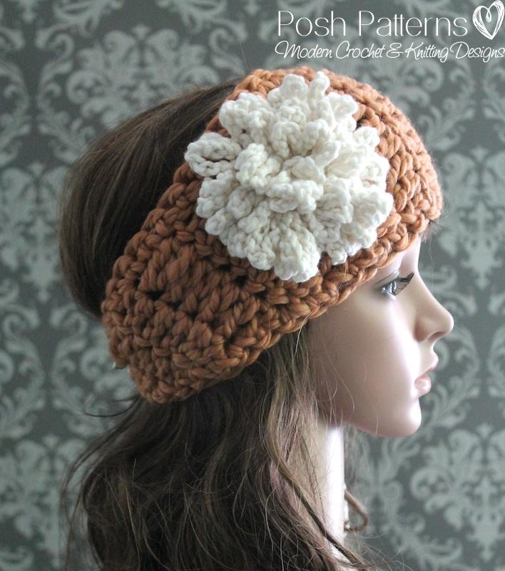 Free crochet headband pattern posh patterns crochet headband pattern dt1010fo
