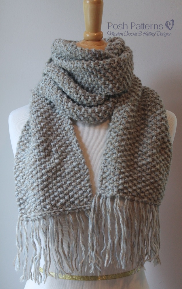 Free Beginner Scarf Knitting Pattern Posh Patterns