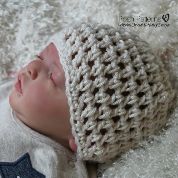 Mesh Stitch Hat Crochet Pattern Posh Patterns