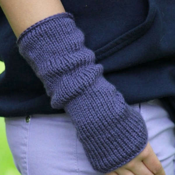 Easy Arm Warmers Fingerless Mittens Knitting Pattern Posh Patterns
