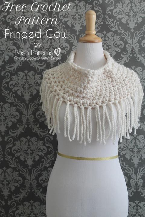 Free Fringe Cowl Crochet Pattern