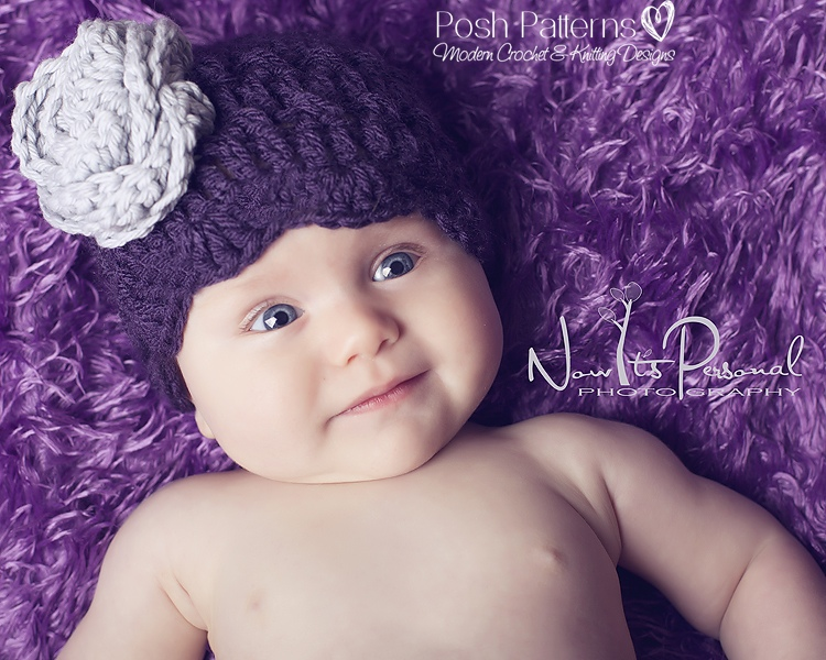 Free Crochet Hat And Flower Pattern