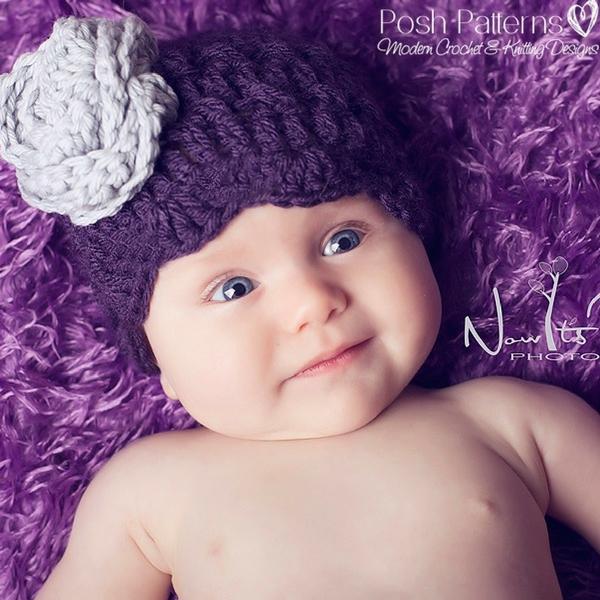 Free Crochet Hat And Flower Pattern