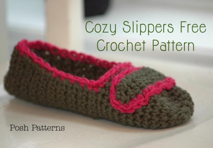Crochet Slipper Pattern Posh Patterns