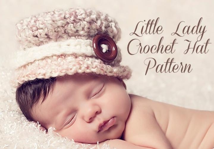 Little Lady Crochet Hat Pattern Words 720 500g