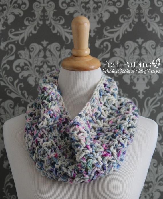 Chunky Lace Cowl Crochet Pattern