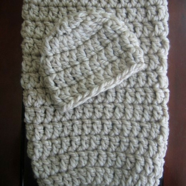 crochet cocoon and hat pattern