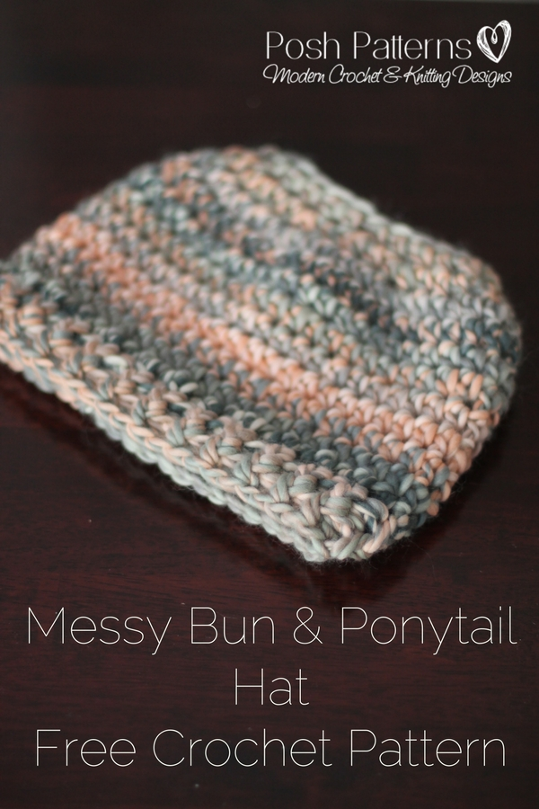Free Messy Bun Hat Crochet Pattern