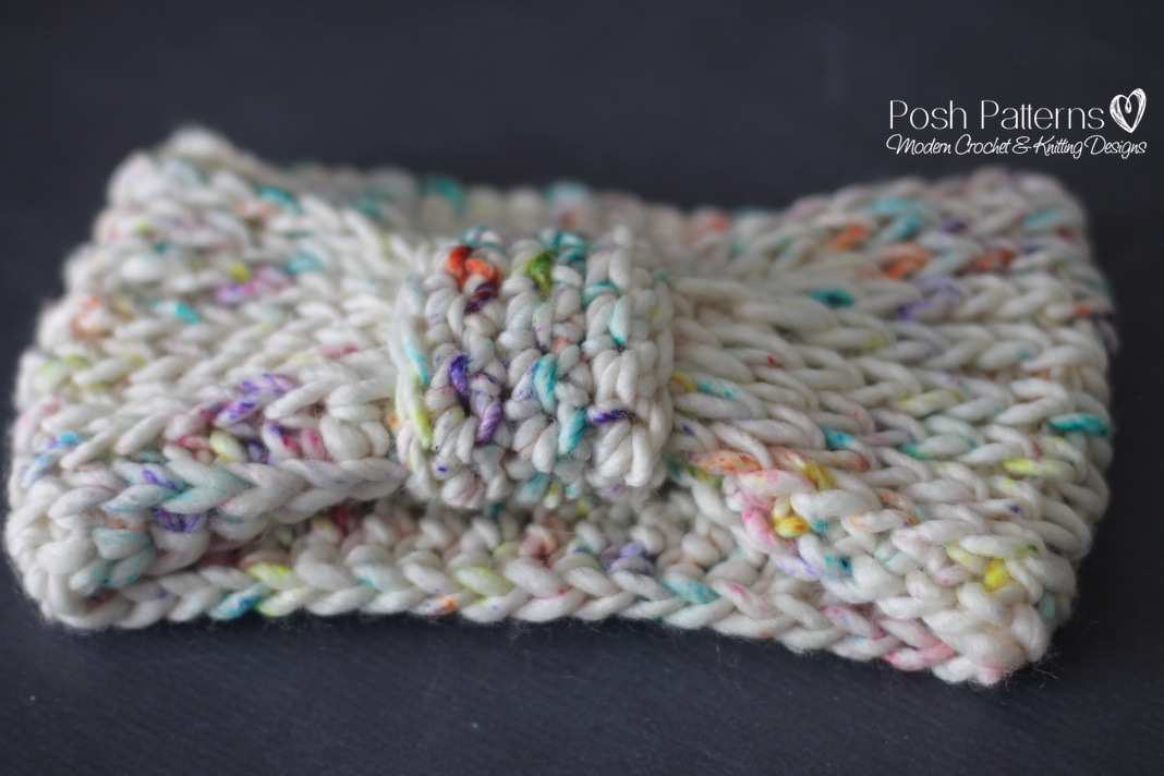 Free Crochet Pattern Knit Look Headband