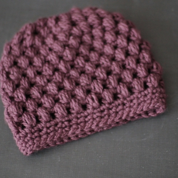 Crochet Messy Bun Hat Pattern