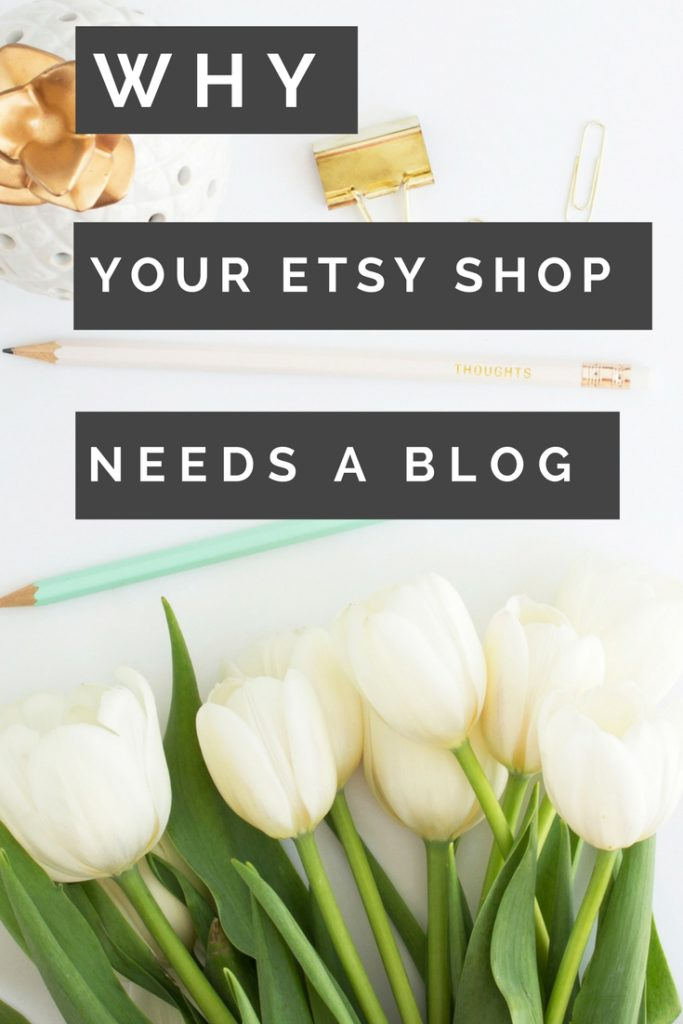 have a blog for your etsy shop