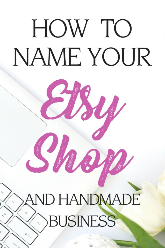 pick a name for your etsy shop