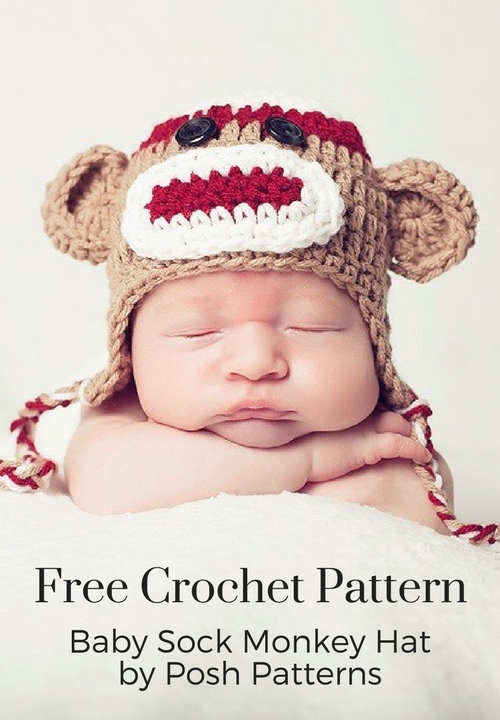 Crochet Sock Monkey Hat Pattern