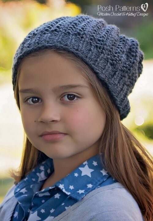 Slouchy Hat Free Knitting Pattern