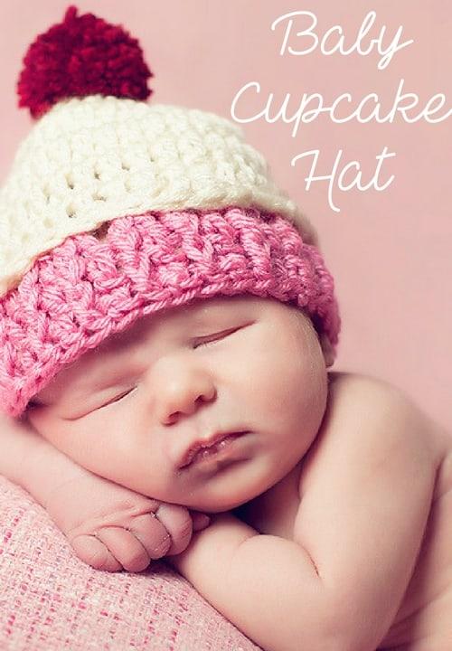 free cupcake hat crochet pattern