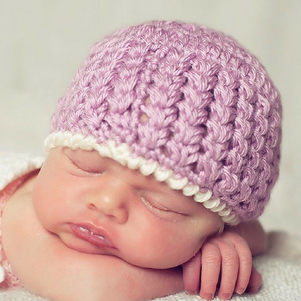 Trinity Stitch Free Crochet Hat Pattern