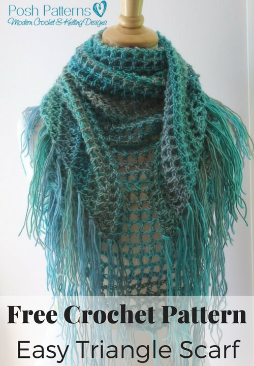 Easy Triangle Scarf Crochet Pattern
