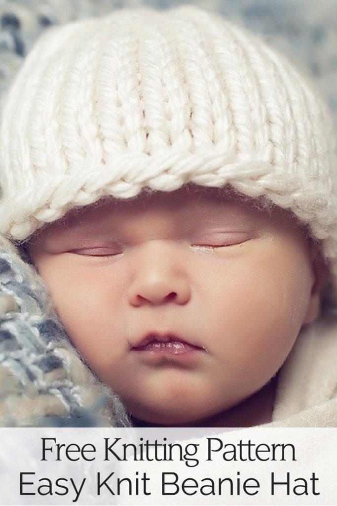 Easy Baby Hat Free Knitting Pattern
