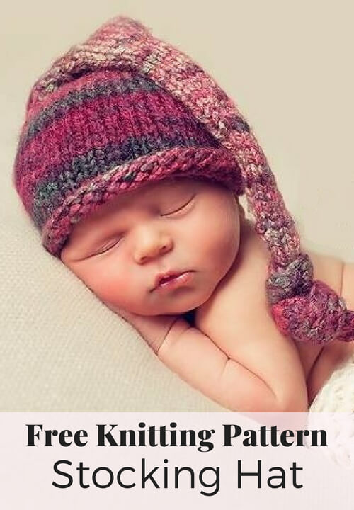 Free Stocking Hat Knitting Pattern