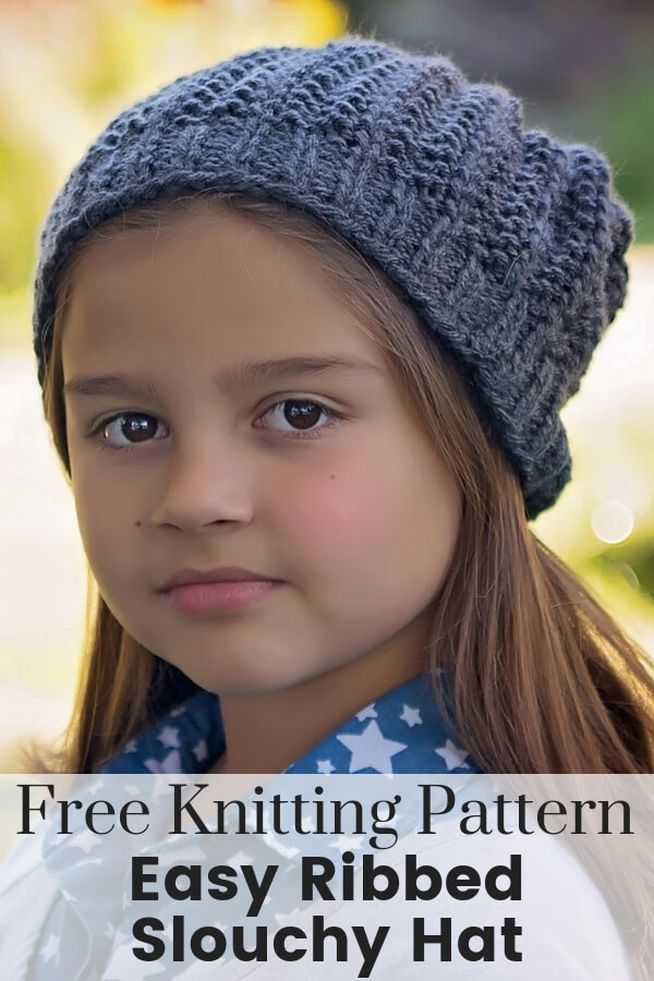 Slouchy Hat Free Knitting Pattern