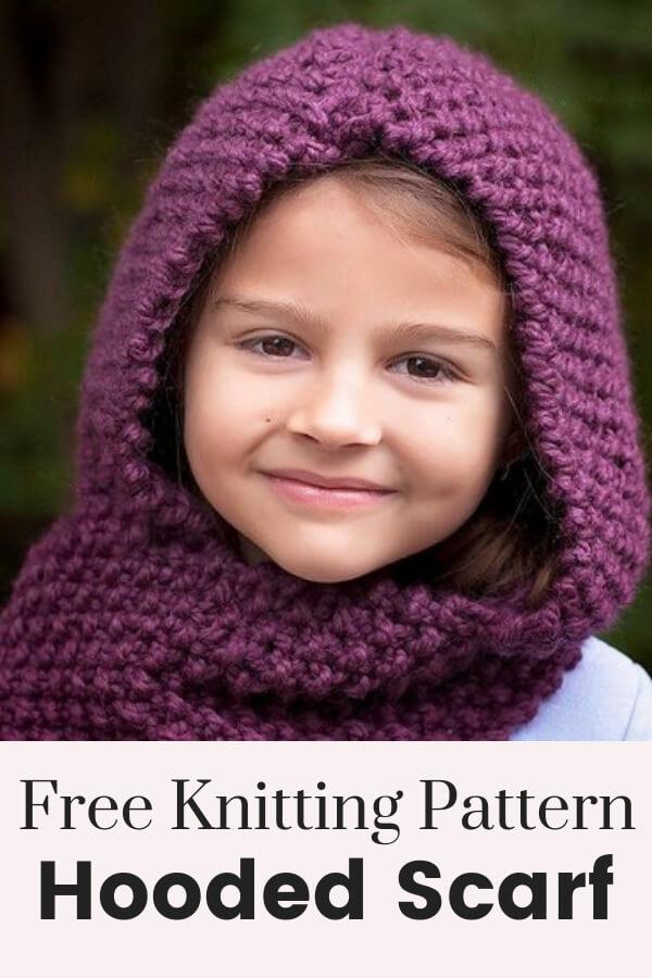 Hooded Scarf Knitting Pattern Posh Patterns
